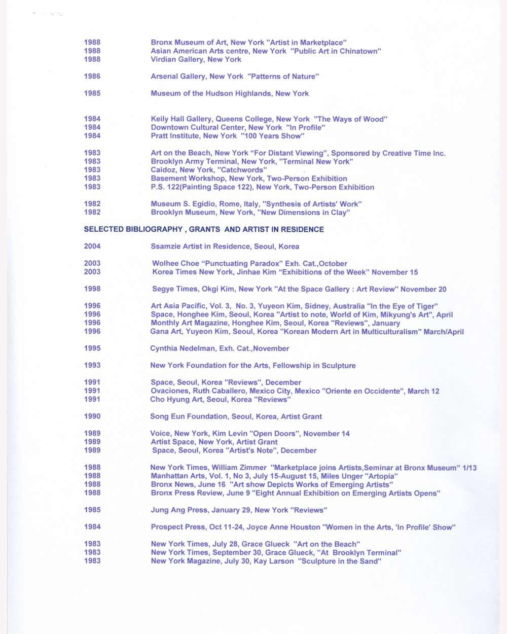 Mikyung Kim's Resume, pg 2